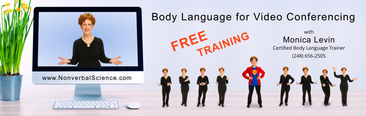Free body language training for video conferencing